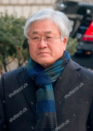 Stock Picture of Park Sang-Jin, former president of Samsung Electronics arrives at the Seoul High Court