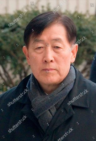 Choi Gee-Sung, former director of Samsung Group's Future Strategy Office arrives at the Seoul High Court