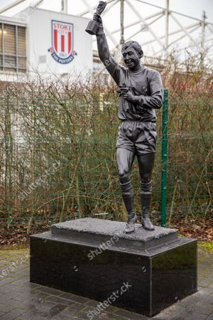 The Stanley Matthews statue outside the Bet365 Stadium