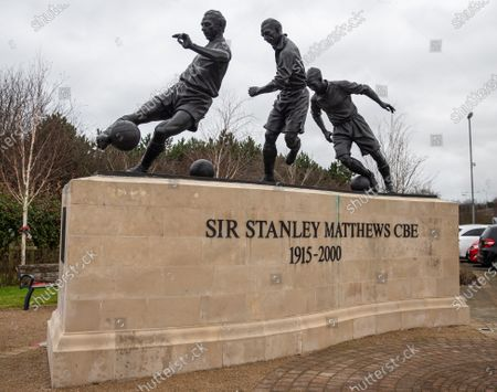 The Stanley Matthews memorial at the Bet365 Stadium