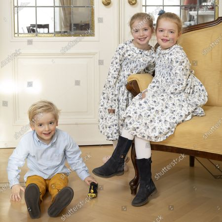 Editorial picture of Prince Carlos de Bourbon family Christmas card photo session, The Hague, The Netherlands - 03 Nov 2019