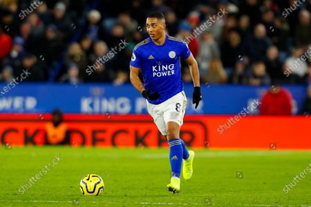 Youri Tielemans of Leicester City on the ball