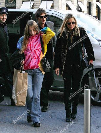 Kate Moss with Lila Grace Moss Hack and Nikolai von Bismarck