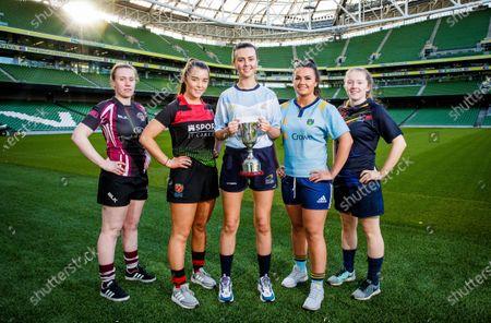 Editorial photo of Student Sport Ireland Rugby Cups Launch, Aviva Stadium, Dublin - 17 Jan 2020