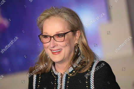 """Meryl Streep poses for photographers upon arrival at the 'Mary Poppins Returns' premiere in central London. Apple TV Plus said, Streep will join Chris O'Dowd, Jacob Tremblay and Ruth Negga to give life to Oliver Jeffers' picture book """"Here We Are: Notes for Living on Planet Earth."""" The 36-minute film will premiere on the streaming service April 17"""