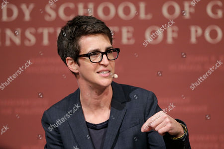 "MSNBC television anchor Rachel Maddow, host of ""The Rachel Maddow Show,"" moderates a panel at a forum called ""Perspectives on National Security,"" at the John F. Kennedy School of Government, at Harvard University, in Cambridge, Mass. There's no apparent impeachment fatigue among Maddow's viewers. Her prime-time show, which has been on for more than 11 years, had its largest audience ever when 4.5 million people watched Maddow's interview, with Lev Parnas, an associate of Rudy Giuliani, President Donald Trump's personal lawyer"