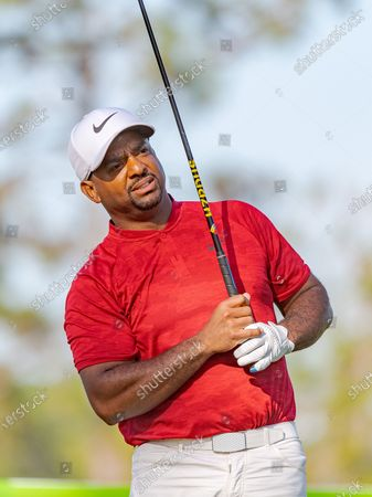 Lake Buena Vista, FL, U.S: Actor Alfonso Ribeiro during 2nd round of Diamond Resorts Tournament of Champions Presented by Insurance Office of America held at Tranquilo Golf Course at Four Seasons Golf and Sports Club Orlando in Lake Buena Vista, Fla