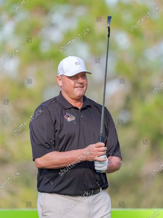 Lake Buena Vista, FL, U.S: Former MLB player Roger Clemens on the 4th tee during 2nd round of Diamond Resorts Tournament of Champions Presented by Insurance Office of America held at Tranquilo Golf Course at Four Seasons Golf and Sports Club Orlando in Lake Buena Vista, Fla