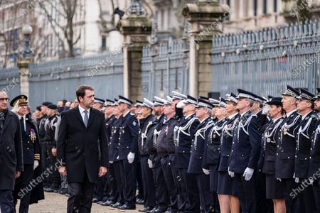 Editorial photo of Tribute to killed policeman, Lyon, France - 17 Jan 2020