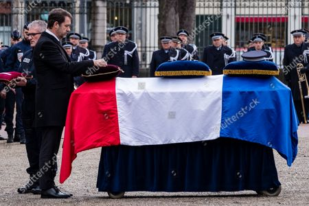 Editorial image of Tribute to killed policeman, Lyon, France - 17 Jan 2020