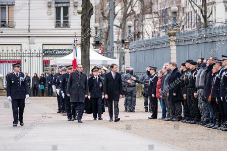 Editorial picture of Tribute to killed policeman, Lyon, France - 17 Jan 2020