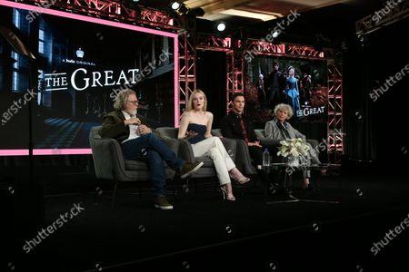 Tony McNamara, Elle Fanning, Nicholas Hoult and Marian MacGowan