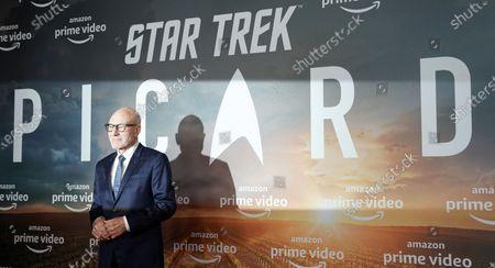 Sir Patrick Stewart poses during the 'Star Trek: Picard' fan screening at the Zoo Palast cinema in Berlin, Germany, 17 January 2020.