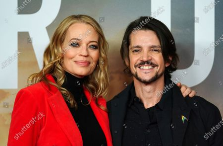 Jeri Ryan (L) and Uruguayan-born actor Jonathan Del Arco pose during the 'Star Trek: Picard' fan screening at the Zoo Palast cinema in Berlin, Germany, 17 January 2020.