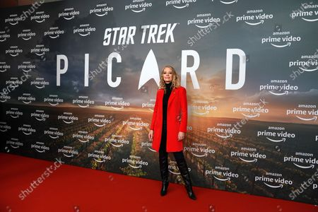 Jeri Ryan poses during the 'Star Trek: Picard' fan screening at the Zoo Palast cinema in Berlin, Germany, 17 January 2020.