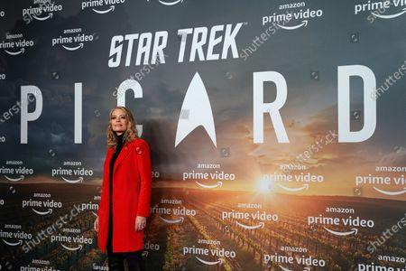 Jeri Ryan poses during the 'Star Trek: Picard' fan screening at the Zoo Palast cinema in Berlin, Germany, 17 January 2020.