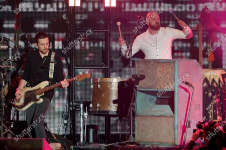Stock Picture of Guy Berryman and Will Champion - Coldplay