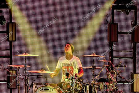 Stock Picture of Travis Barker of Blink 182