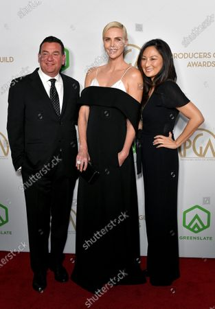 Stock Photo of A.J. Dix, Charlize Theron and Beth Kono