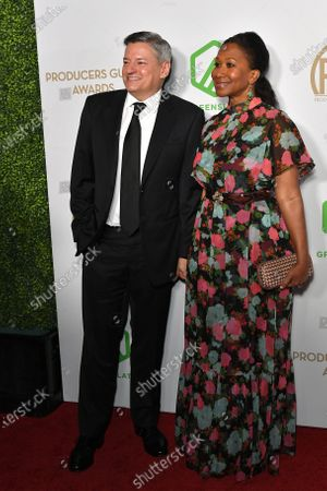 Stock Image of Ted Sarandos and Nicole Avant
