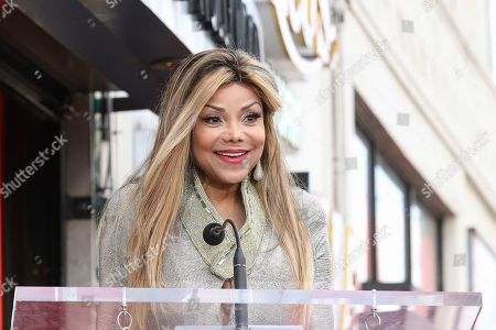 La Toya Jackson speaks at the Andy Madadian's Hollywood Walk of Fame star ceremony, in Los Angeles. The popular Armenian-Iranian-American musician received the 2,684th Star in the category of Recording