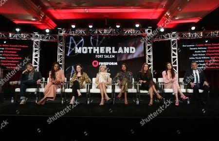 Editorial picture of 'Motherland: Fort Salem' TV show, Freeform, TCA Winter Press Tour, Panels, Los Angeles, USA - 17 Jan 2020