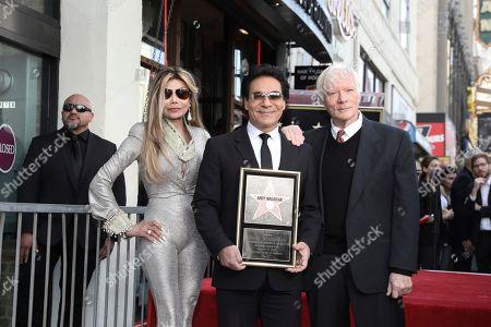 La Toya Jackson, Andy Madadian, Miles Copeland. La Toya Jackson, Andy Madadian, and Miles Copeland celebrate Madadian's Hollywood Walk of Fame star, in Los Angeles