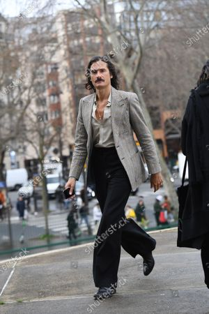 Editorial photo of Street style, Autumn Winter 2020, Paris Fashion Week Men's, France - 17 Jan 2020