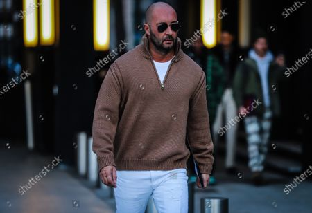 Editorial photo of Street Style, Autumn Winter 2020, Milan Fashion Week Men's, Italy - 11 Jan 2020
