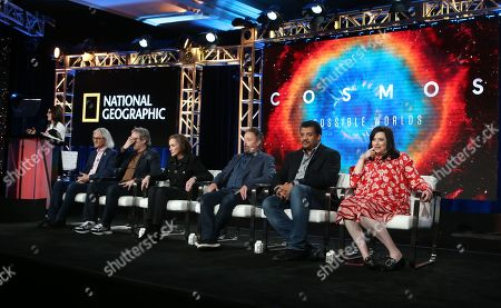 Jeffrey Okun, Brannon Braga, Ann Druyan, Jason Clark, Neil deGrasse Tyson and Kara Vallow
