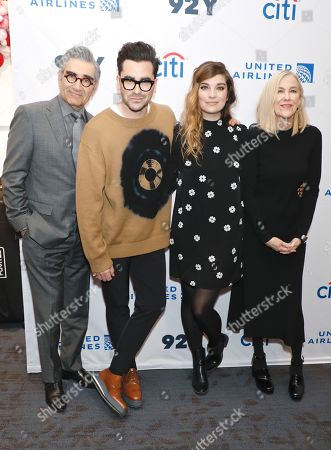 Eugene Levy, Daniel Levy, Annie Murphy and Catherine O'Hara
