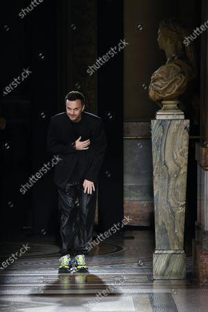 Stock Picture of Kris Van Assche on the catwalk