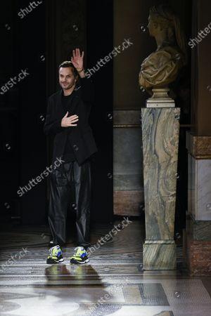 Stock Photo of Kris Van Assche on the catwalk