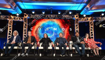 Jeff Okun, Brannon Braga, Ann Druyan, Jason Clark, Neil deGrasse Tyson and Kara Vallow