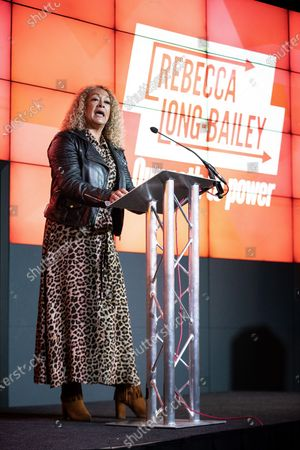 Kim Johnson, MP for Liverpool Riverside, speaks ahead of Long-Bailey. Salford & Eccles MP Rebecca Long-Bailey launches her campaign to succeed Jeremy Corbyn in the race for Labour Party leadership, at an event in the Museum of Science and Industry in Manchester City Centre.