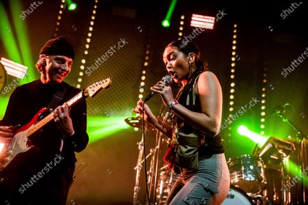 Joy Crookes (R) performs at Eurosonic Noorderslag 2020 in Groningen, Netherlands, 17 January 2020 (issued 18 January 2020). The ESNS is a festival for European artists, where unknown talent is also given a stage.