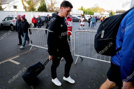Ulster vs Bath Rugby. Bath's Freddie Burns arrives
