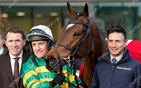 DEFI DU SEUIL (Barry Geraghty) with A P McCoy after The Matchbook Clarence House Chase Ascot