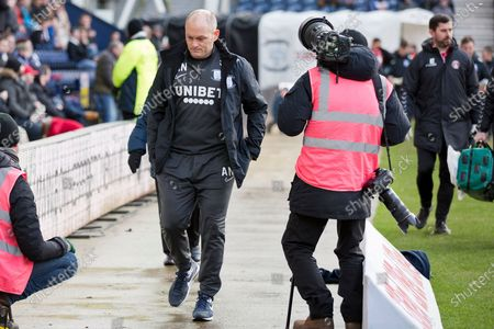 Preston North End manager Alex Neil during the EFL Sky Bet Championship match between Preston North End and Charlton Athletic at Deepdale, Preston