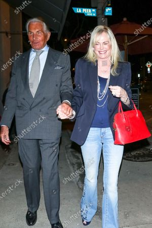 George Hamilton and Kelly Day outside Craig's Restaurant