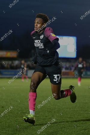 Ricky-Jade Jones of Peterborough United during AFC Wimbledon vs Peterborough United, Sky Bet EFL League 1 Football at the Cherry Red Records Stadium on 18th January 2020