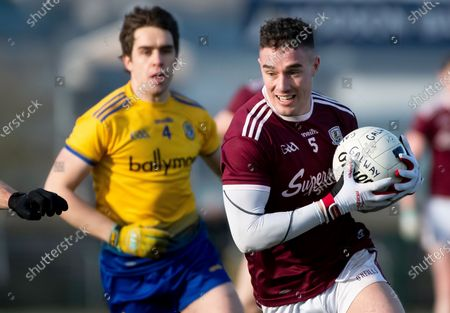 Stock Photo of Roscommon vs Galway. Roscommon's David Murray and Galway's Eamon Brannigan