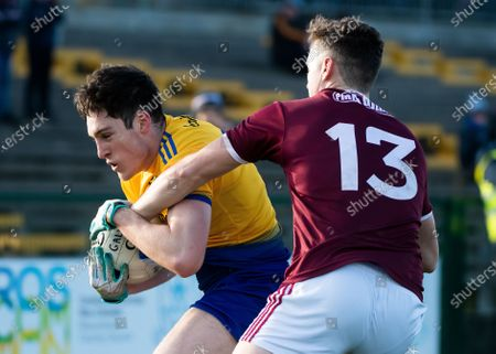 Roscommon vs Galway. Roscommon's Richard Hughes and Galway's Robert Finnerty
