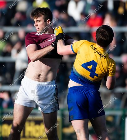 Stock Picture of Roscommon vs Galway. Roscommon's David Murray and Galway's Paul Conroy scuffle
