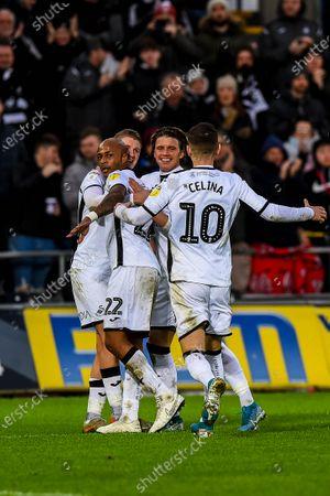 Andre Ayew of Swansea City celebrates his goal