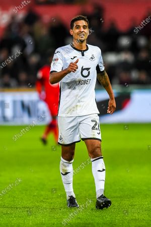 Kyle Naughton of Swansea City in action