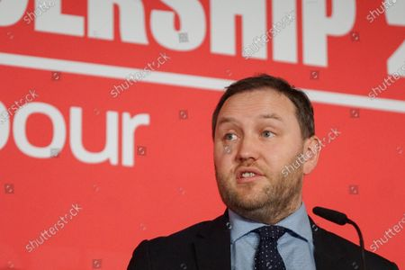 Labour MP and deputy leadership contender Ian Murray gestures  at a Labour Party leadership hustings at King's Dock Arena in Liverpool.