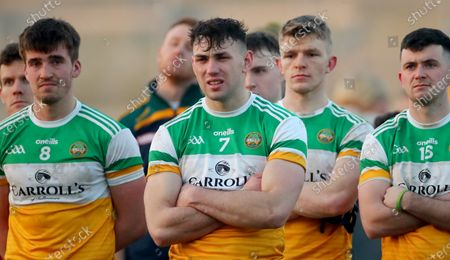 Offaly vs Longford. Offaly's Jordan Hayes dejected