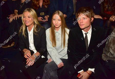 Kate Moss, Lila Grace Moss Hack and Nikolai von Bismarck