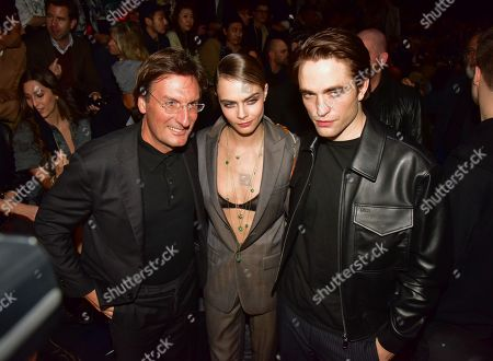 CEO of Dior Pietro Beccari, Cara Delevingne and Robert Pattinson